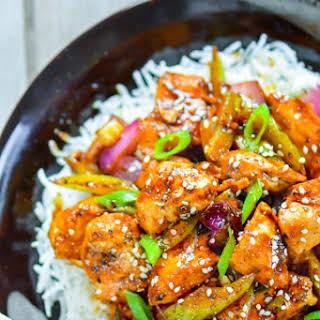 Chinese Black Pepper Chicken.