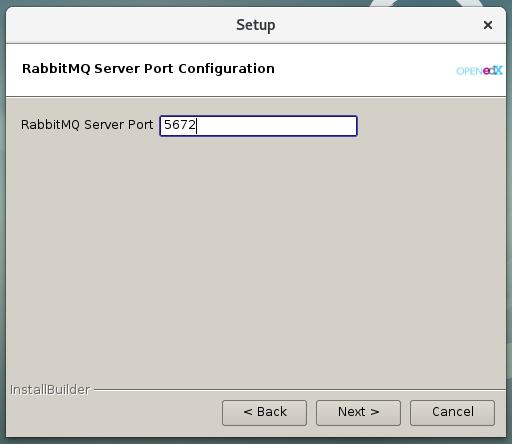 Figura 8 - Configurar el puerto del servidor RabbitMQ