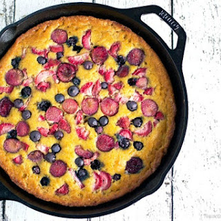 Mixed Berry Skillet Cake