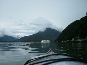 Photo: A cruise ship at the dock in Skagway.