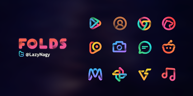 Folds - Icon Pack V1 3 [Patched] APK | DailyApp net