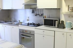 Full kitchen at 3 bedroom Apartment with Luxembourg Garden View