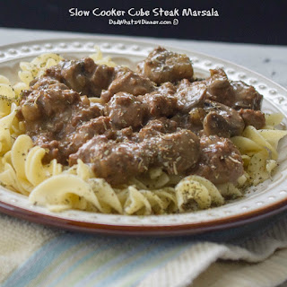 Slow Cooker Cube Steak Marsala.