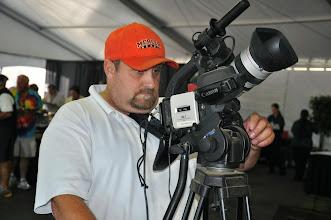 Photo: Buddy Lovell  setting up