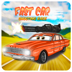 fast car shooting race