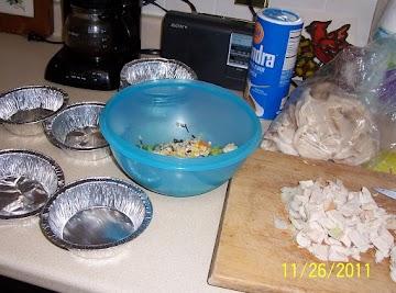 Turkey Pot Pies (mini's) Recipe