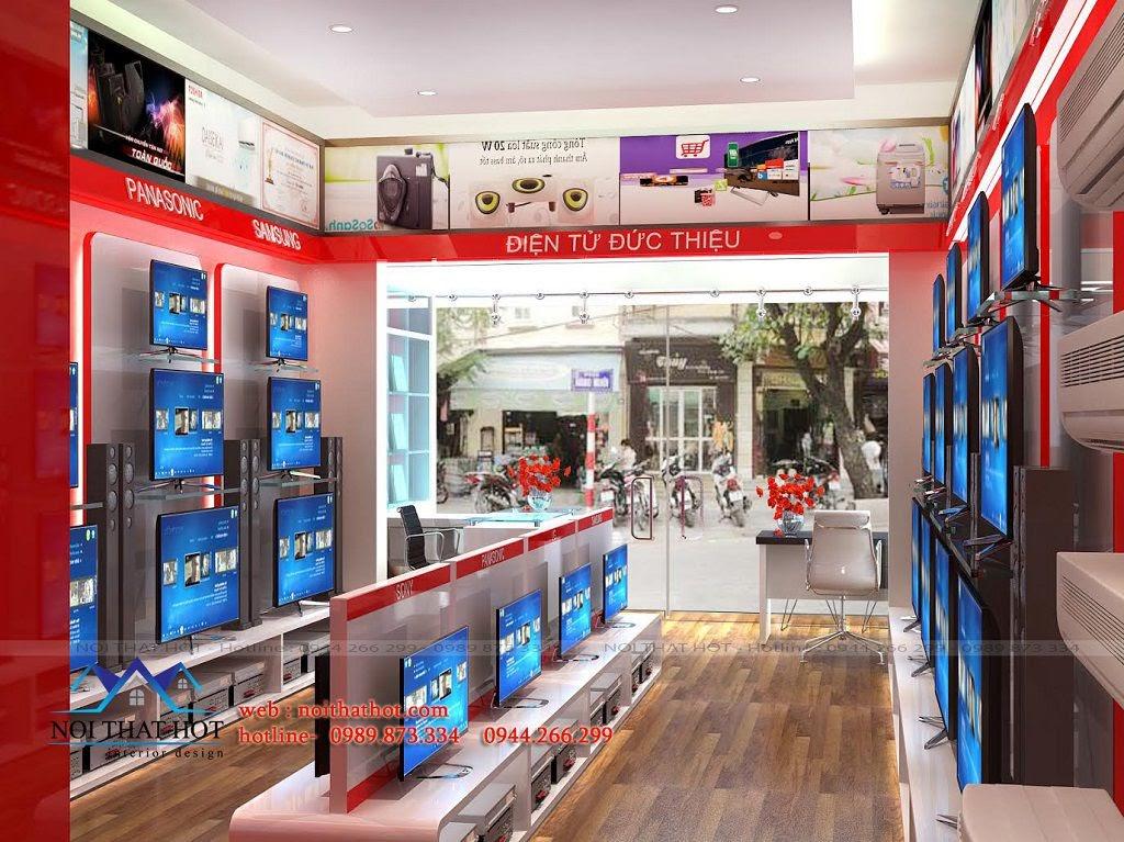 thiết kế nội thất cửa hàng điện máy