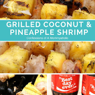 Grilled Coconut and Pineapple Shrimp.