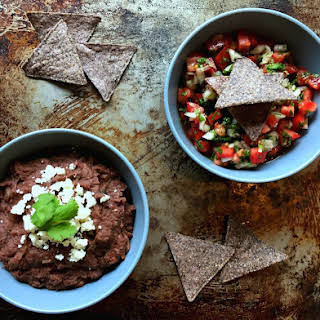 Costa Rican-Style Refried Beans and Pico de Gallo.