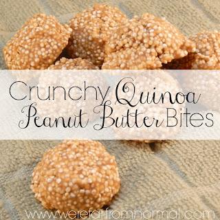 Crunchy Quinoa Peanut Butter Bites