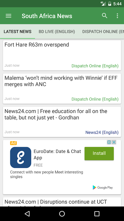 South Africa News- screenshot