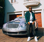 Cassper Nyovest with his new ride. Picture Credit: Instagram