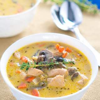 Creamy Chicken and Mushroom Soup.