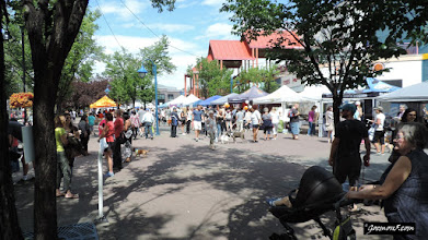 Photo: The stage at Eau Clair Market had added value: Pet Palooza