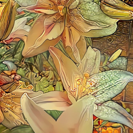 Lilies 4 by Cassy 67 - Digital Art Things ( digital, flowers, abstract art, lily, abstract, lilies, digital art, flower )