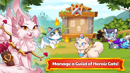 Castle Cats MOD APK Idle Hero RPG 2.12.1 (Unlimited Money) 1