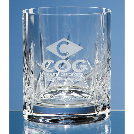 95cm Lead Crystal Panel Whisky Tumbler