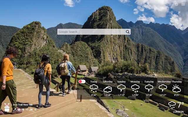 Inca Trail New Tab, Wallpapers HD