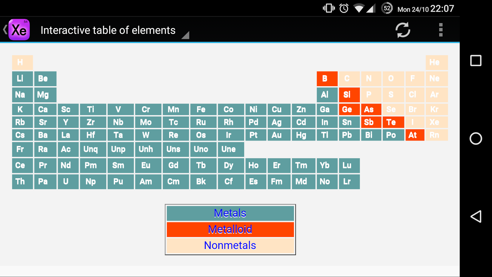 Interactive periodic table android apps on google play interactive periodic table screenshot gamestrikefo Images