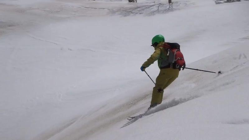 【乗鞍岳バックカントリー】スキー滑走④