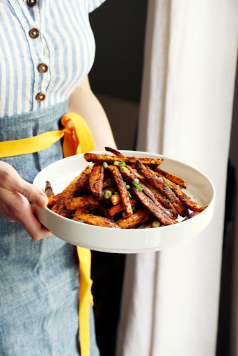 Chili Baked Sweet Potato Fries
