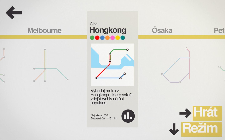 Mini Metro - uázka ze hry