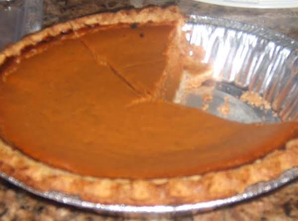 Phebe's Pumpkin Pie Recipe