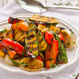 Grilled Balsamic Vegetables.