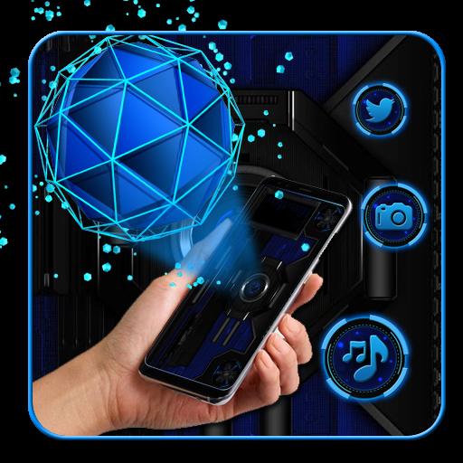 3d Tech Chaotic sphere theme