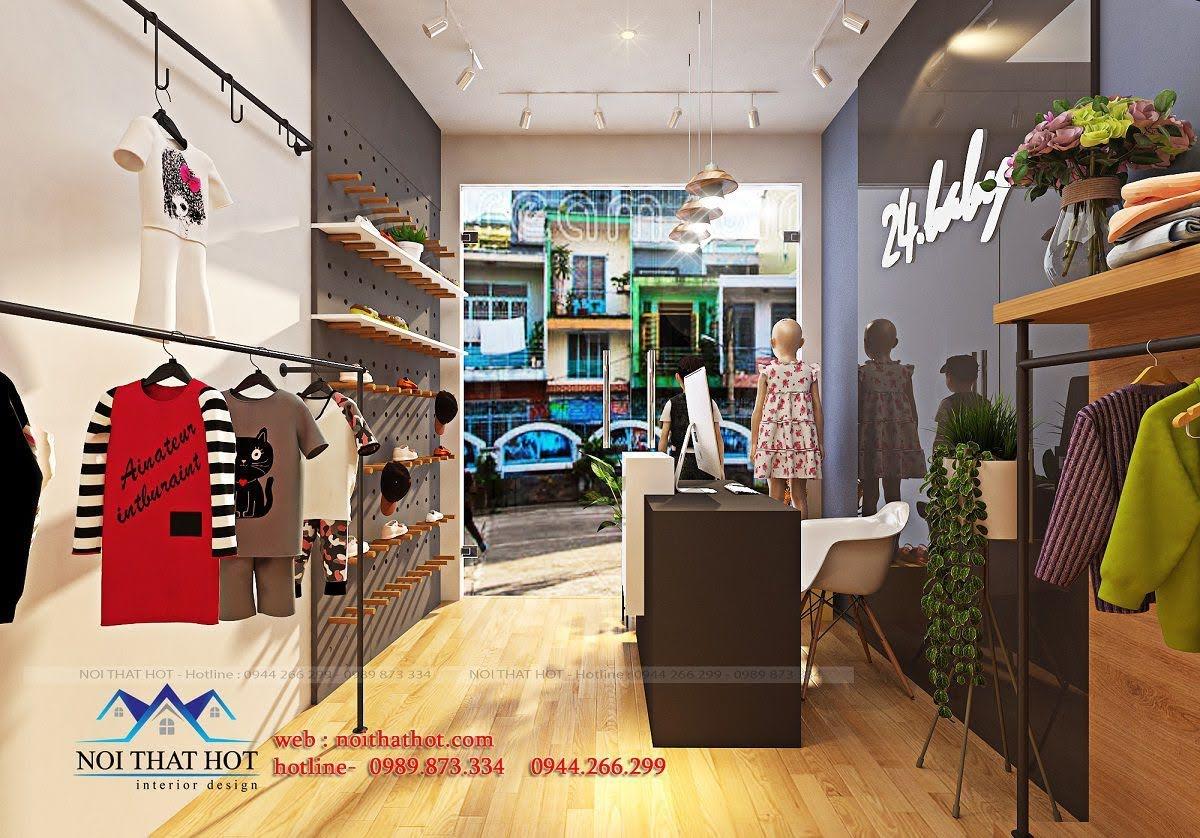 thiết kế shop thời trang trẻ em 24.baby 3