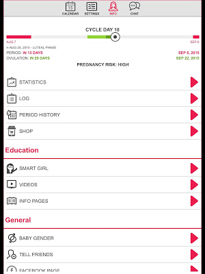 1 Ovulation & Period Calendar App screenshot