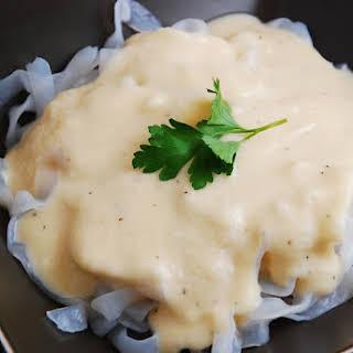 Creamy Cauliflower Cheese Pasta Sauce.