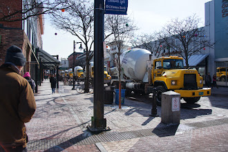Photo: Cement truck St. Paddy's parade