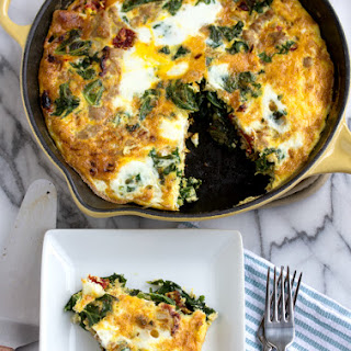Turkey, Kale, Onion, & Sundried Tomato Frittata
