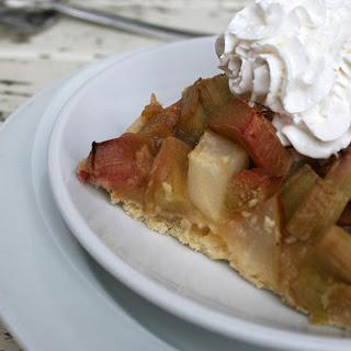 Sweet Rhubarb Cake (vegan).