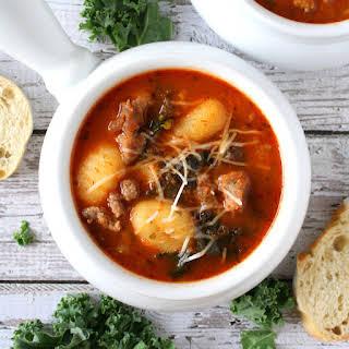 Italian Tomato Gnocchi Soup.