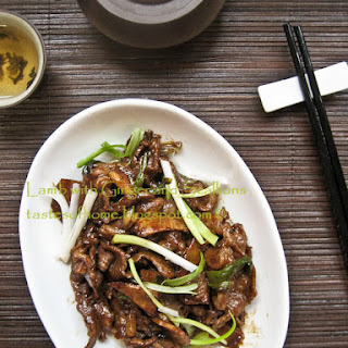 Lamb with Ginger and Scallions Stir-fry Recipe 姜葱羊肉片