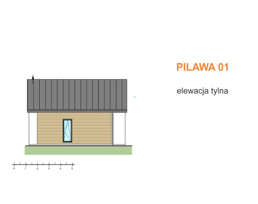 Pilawa 01 - Elewacja tylna