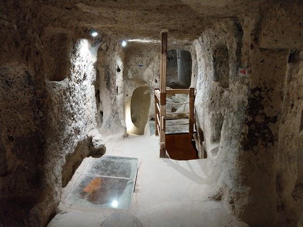 Popular tourist site Kaymakli Underground City in Cappadocia