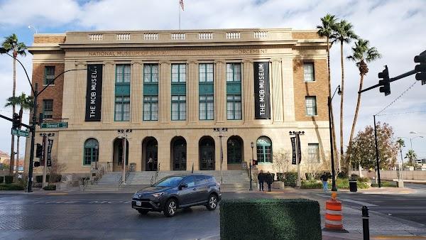 Popular tourist site The Mob Museum in Las Vegas