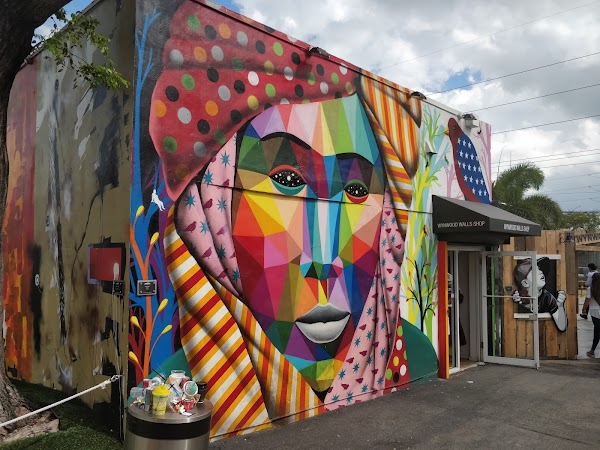 Popular tourist site Wynwood Walls in Miami