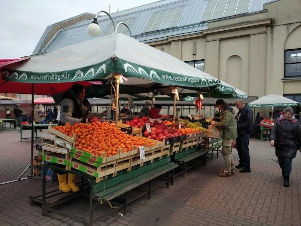 Popular tourist site Riga Central Market in Riga