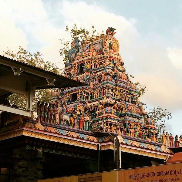 Popular tourist site Attukal Bhagavathy Temple in Trivandrum