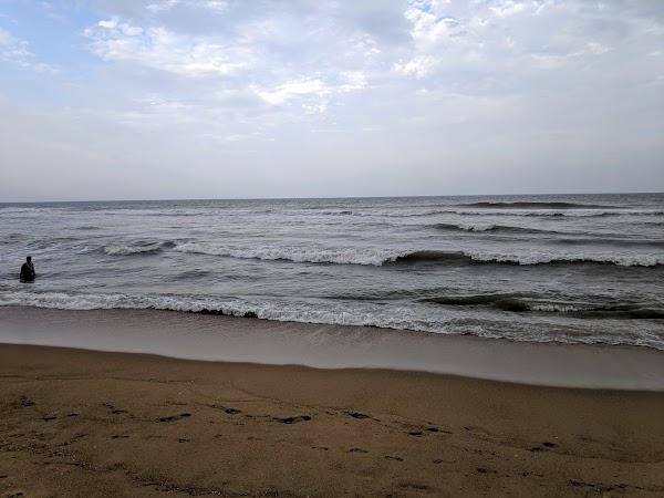 Popular tourist site Akkarai Beach in Chennai