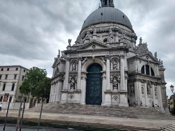 Popular tourist site Basilica di Santa Maria della Salute in Venice