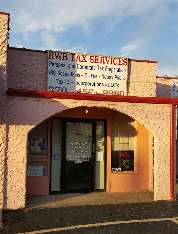 Popular tourist site RWB Tax Services in Villa Rica