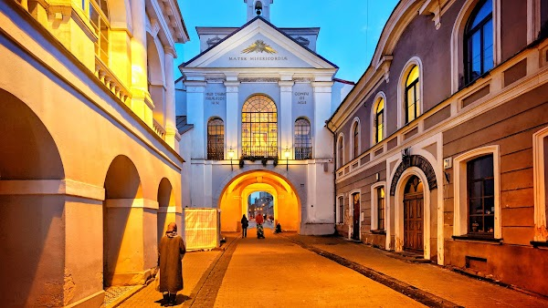 Popular tourist site Gates of Dawn in Vilnius