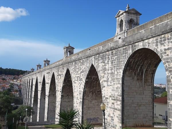 Popular tourist site Aqueduto das Águas Livres in Lisbon