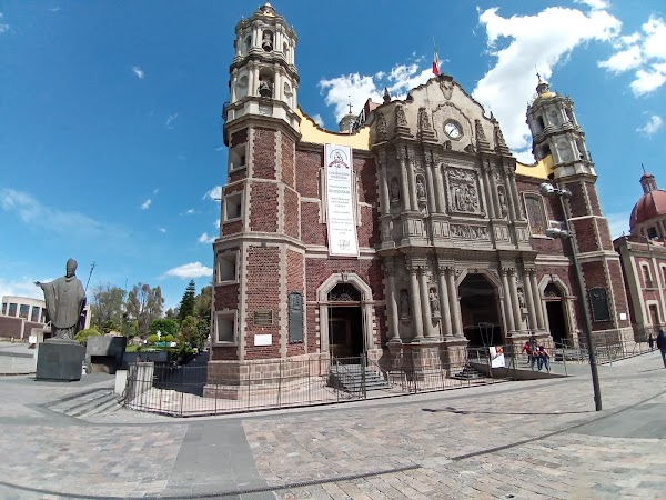Popular tourist site Basilica of Our Lady of Guadalupe in Mexico City