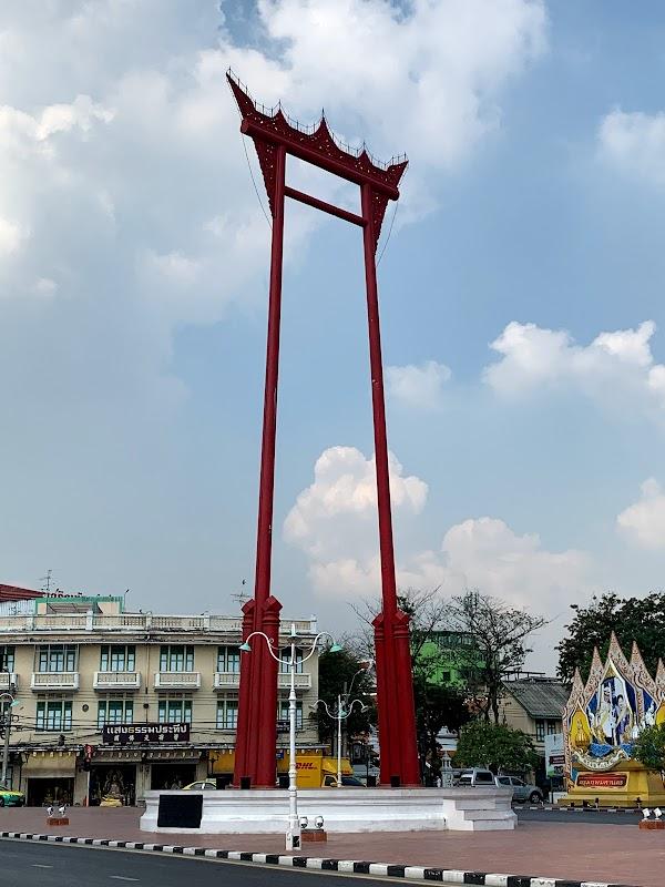 Popular tourist site Giant Swing in Bangkok